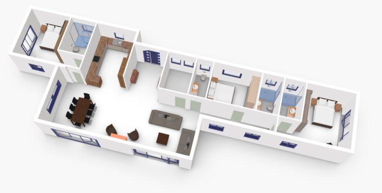 Villa Gournes Main 3D
