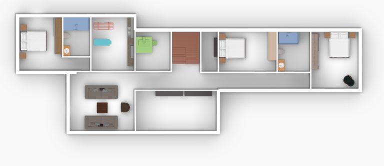 Villa Gournes U floor 2D