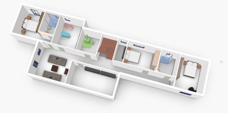 Villa Gournes U floor 3D